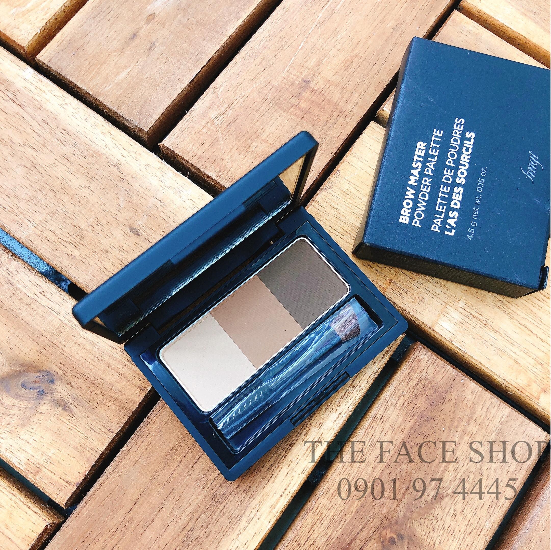 Bột kẻ chân mày Brow Master Power Palette #01 Beige Brown The Face Shop