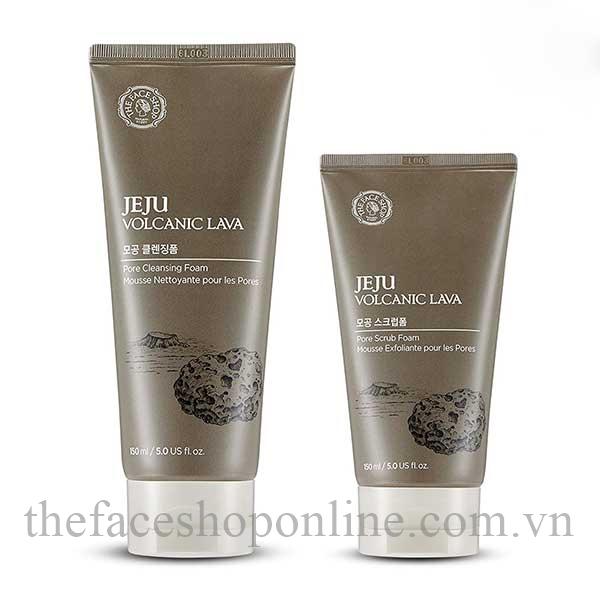 Sua-Rua-Mat-The-Face-Shop-Jeju-Volcanic-Lava-Pore-Scrub-Foam-150ml-1